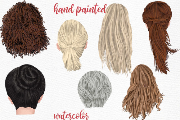 Hairstyles Clipart Graphic Illustrations By LeCoqDesign - Image 2