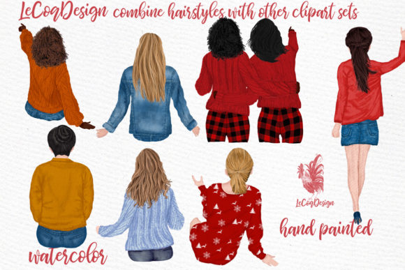 Hairstyles Clipart Graphic Illustrations By LeCoqDesign - Image 3