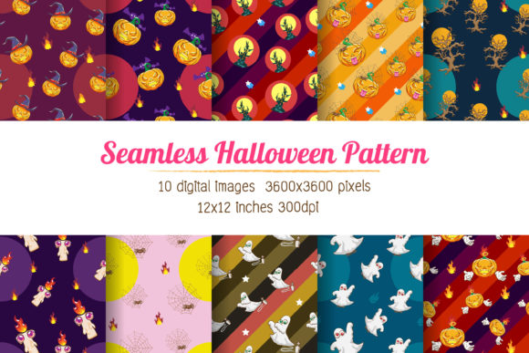 Halloween Digital Paper Graphic Print Templates By Euphoria Design
