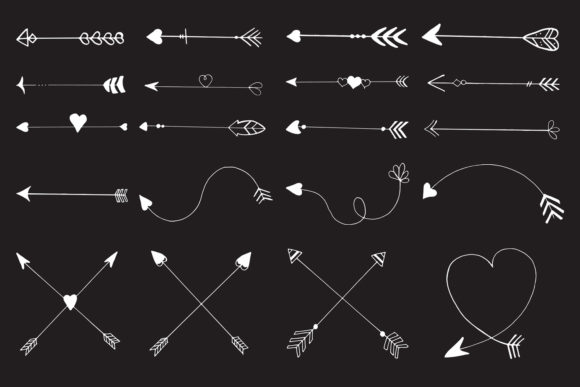 Download Free Hand Drawn Arrows Cliparts Ver 4 Graphic By Creative Tacos for Cricut Explore, Silhouette and other cutting machines.