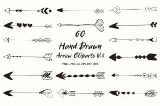 Print on Demand: Hand Drawn Arrows Cliparts Ver. 5 Graphic Illustrations By Creative Tacos