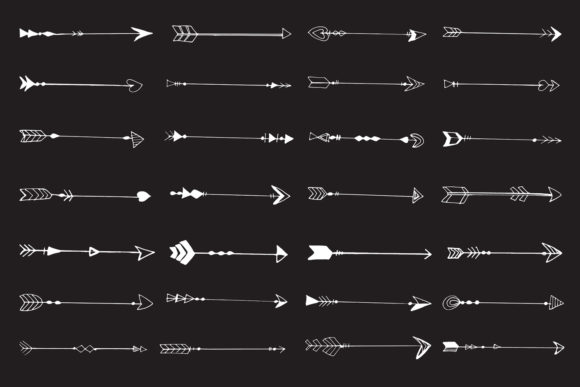 Print on Demand: Hand Drawn Arrows Cliparts Ver. 6 Graphic Illustrations By Creative Tacos - Image 2