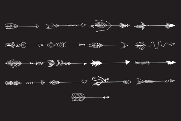 Print on Demand: Hand Drawn Arrows Cliparts Ver. 6 Graphic Illustrations By Creative Tacos - Image 6