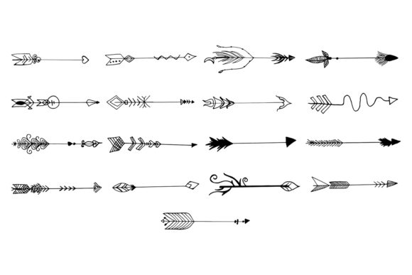 Print on Demand: Hand Drawn Arrows Cliparts Ver. 6 Graphic Illustrations By Creative Tacos - Image 7