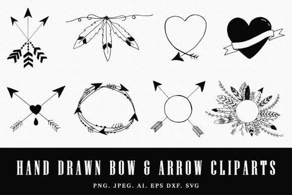 Print on Demand: Handmade Bow & Arrow Cliparts Graphic Illustrations By Creative Tacos