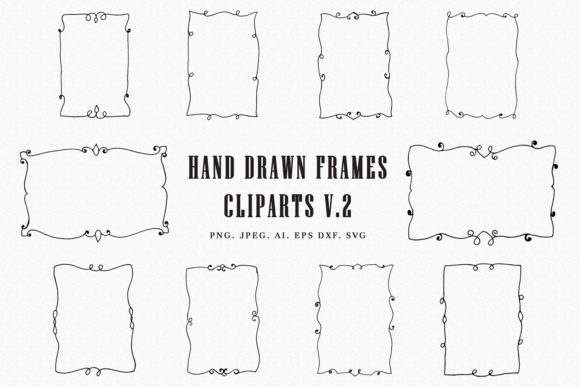 Download Free Handmade Frames Cliparts Ver 2 Graphic By Creative Tacos for Cricut Explore, Silhouette and other cutting machines.