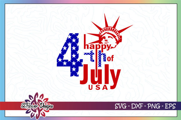 Download Free Happy 4th Of July Liberty Graphic By Ssflower Creative Fabrica for Cricut Explore, Silhouette and other cutting machines.
