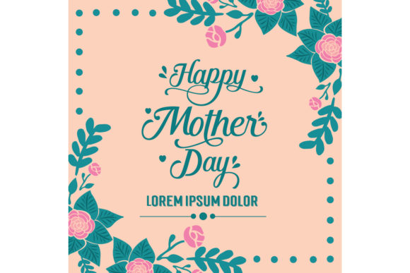 Download Free Happy Mother Day Invitation Card Decor Graphic By Stockfloral for Cricut Explore, Silhouette and other cutting machines.