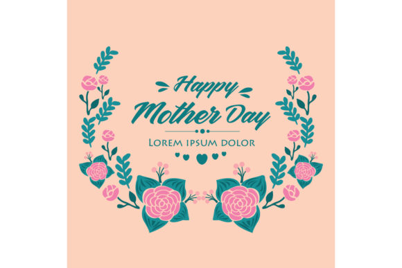 Download Free Happy Mother Day Invitation Card Design Graphic By Stockfloral for Cricut Explore, Silhouette and other cutting machines.