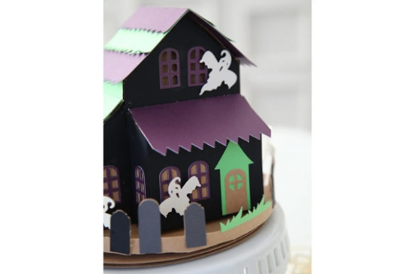Haunted Halloween Paper Crafts Graphic 3D SVG By carina2 - Image 4
