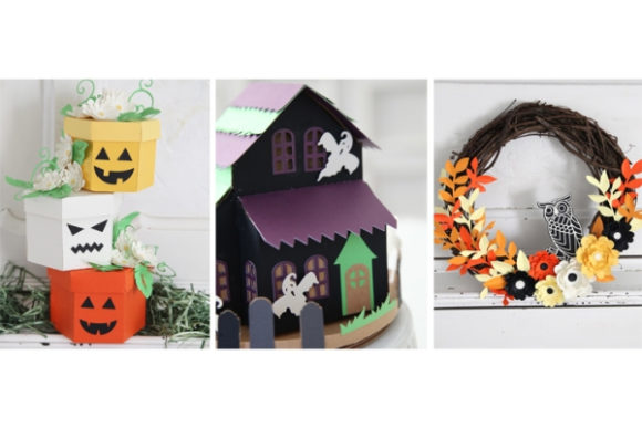 Haunted Halloween Paper Crafts Graphic 3D SVG By carina2 - Image 9