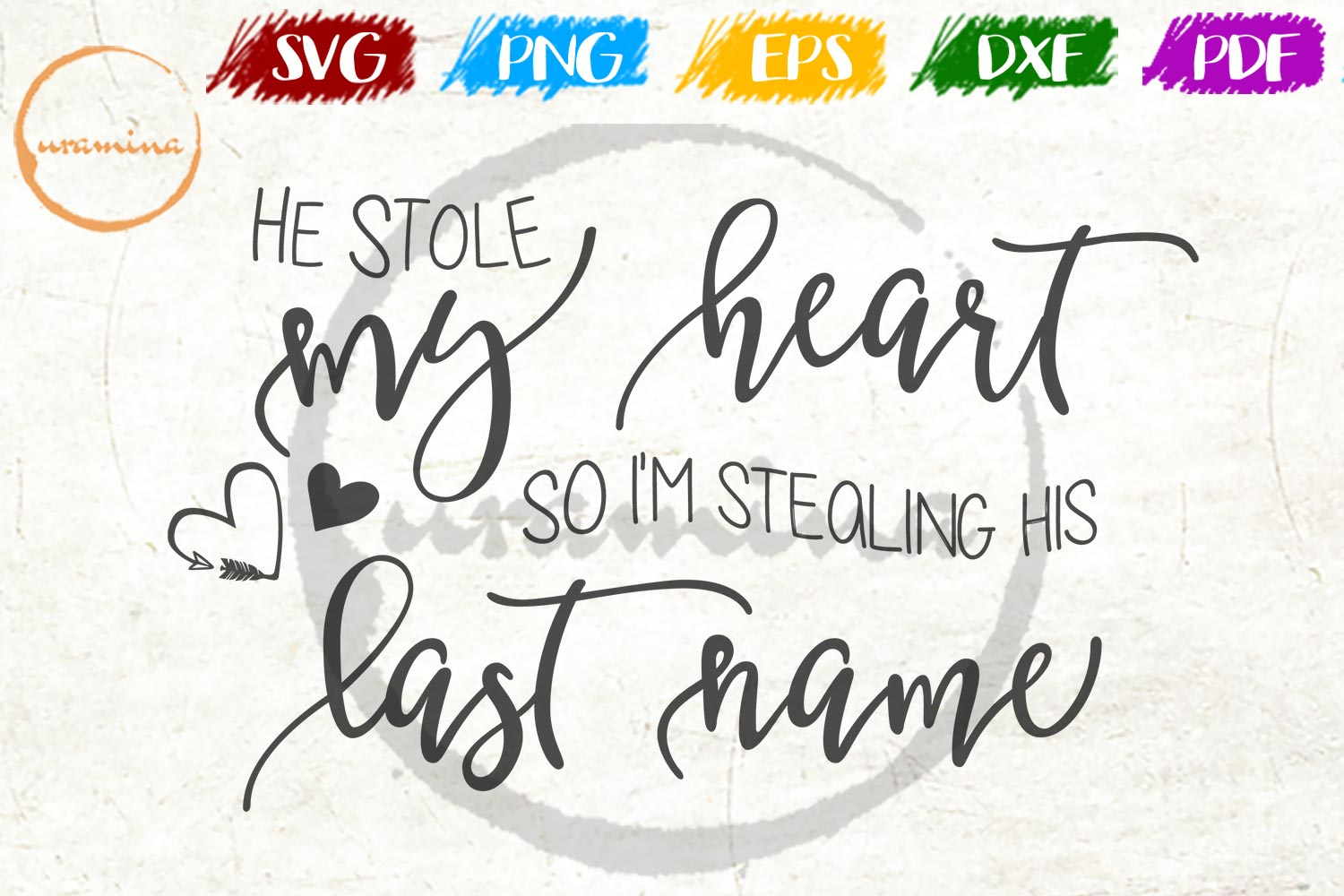 Download Free He Stole My Heart So I M Stealing His Graphic By Uramina for Cricut Explore, Silhouette and other cutting machines.