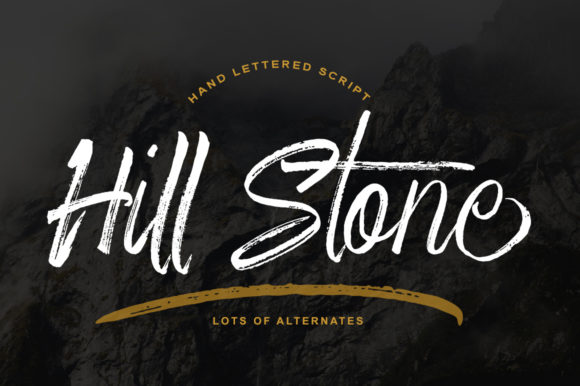 Print on Demand: Hill Stone Script & Handwritten Font By Bal Studio