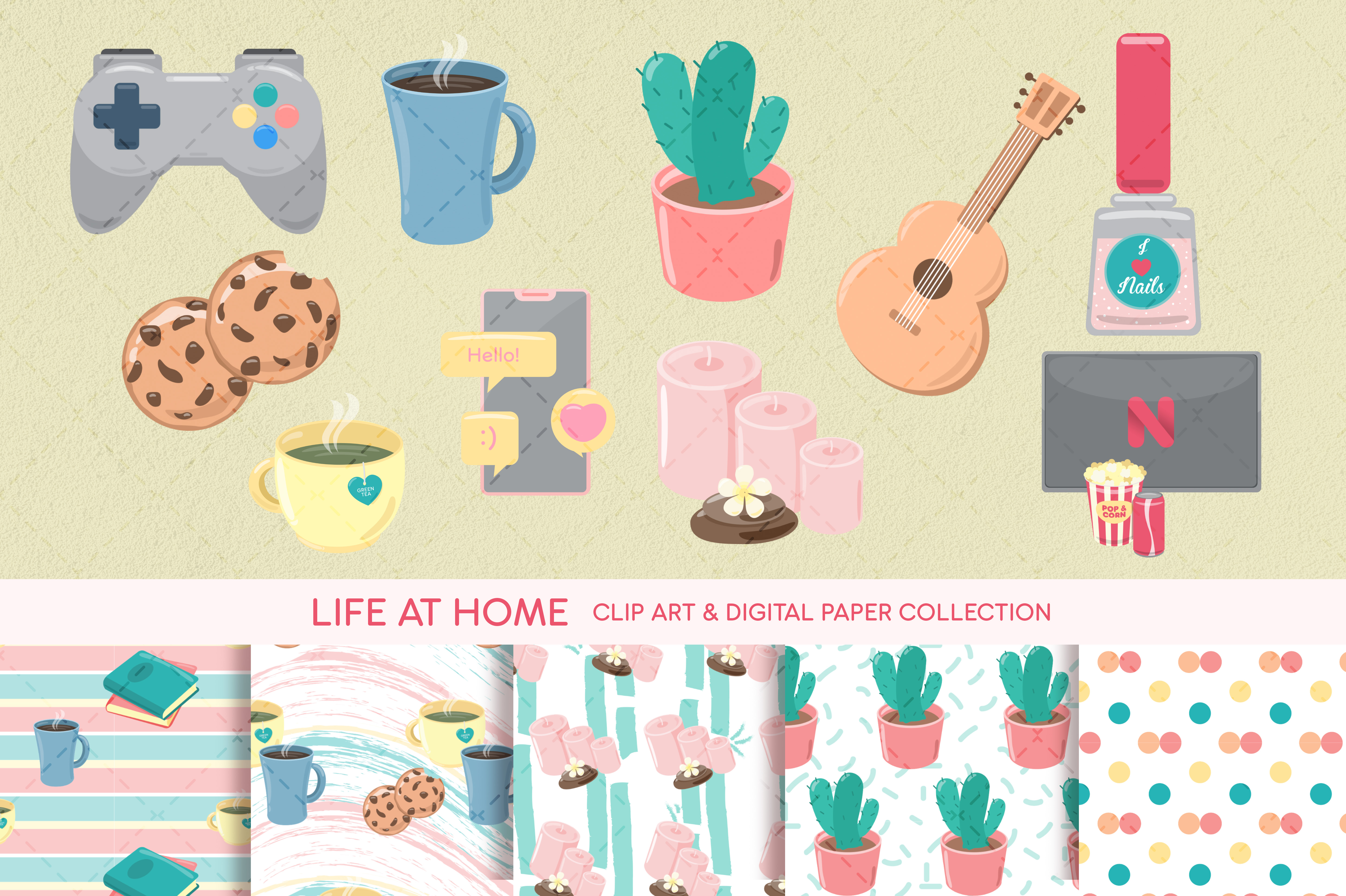 Download Free Hobby Clip Art Digital Paper Graphic By Sgt Ruthless Creative for Cricut Explore, Silhouette and other cutting machines.