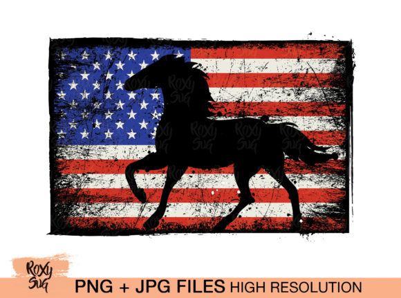 Print on Demand: Horse Sublimation Designs Graphic Crafts By roxysvg26