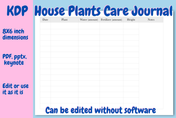 Download Free House Plants Care Journal For Kdp Graphic By Income Plum for Cricut Explore, Silhouette and other cutting machines.