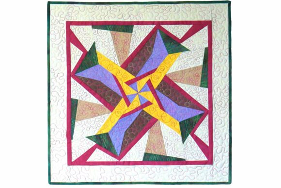 Humdinger Designer Pinwheel Pattern Graphic Quilt Patterns By dena.dale.crain - Image 1