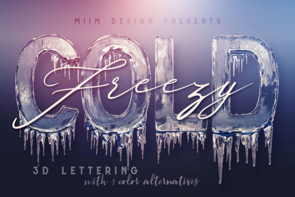 Print on Demand: Ice Cold – 3D Lettering Graphic Objects By JumboDesign