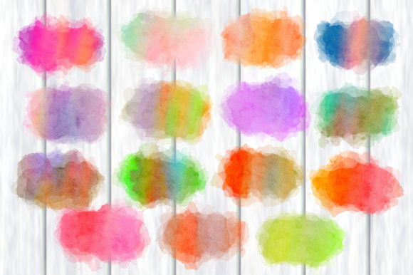 Print on Demand: Ink Splashes and Watercolor Splatters Graphic Backgrounds By Prawny - Image 2