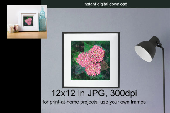 Ixora Flowers Artwork in 12x12in Hi Res Graphic Illustrations By JATA Arts