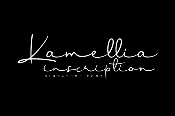 Print on Demand: Kamellia Script & Handwritten Font By andikastudio