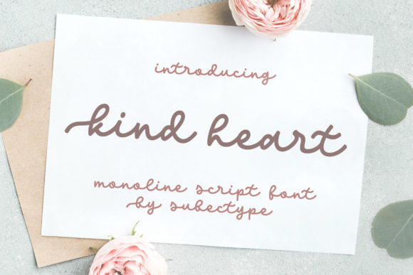 Print on Demand: Kind Heart Script & Handwritten Font By Subectype