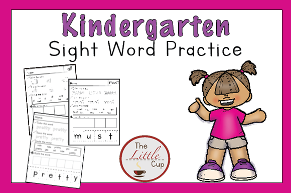 Download Free Kindergarten Sight Word Worksheets Graphic By Marie9 Creative SVG Cut Files