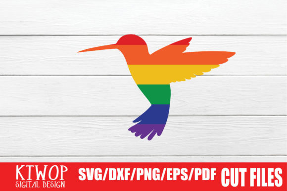 Download Free Lgbt Cut Files Gay Pride Bird Graphic By Ktwop Creative Fabrica SVG Cut Files