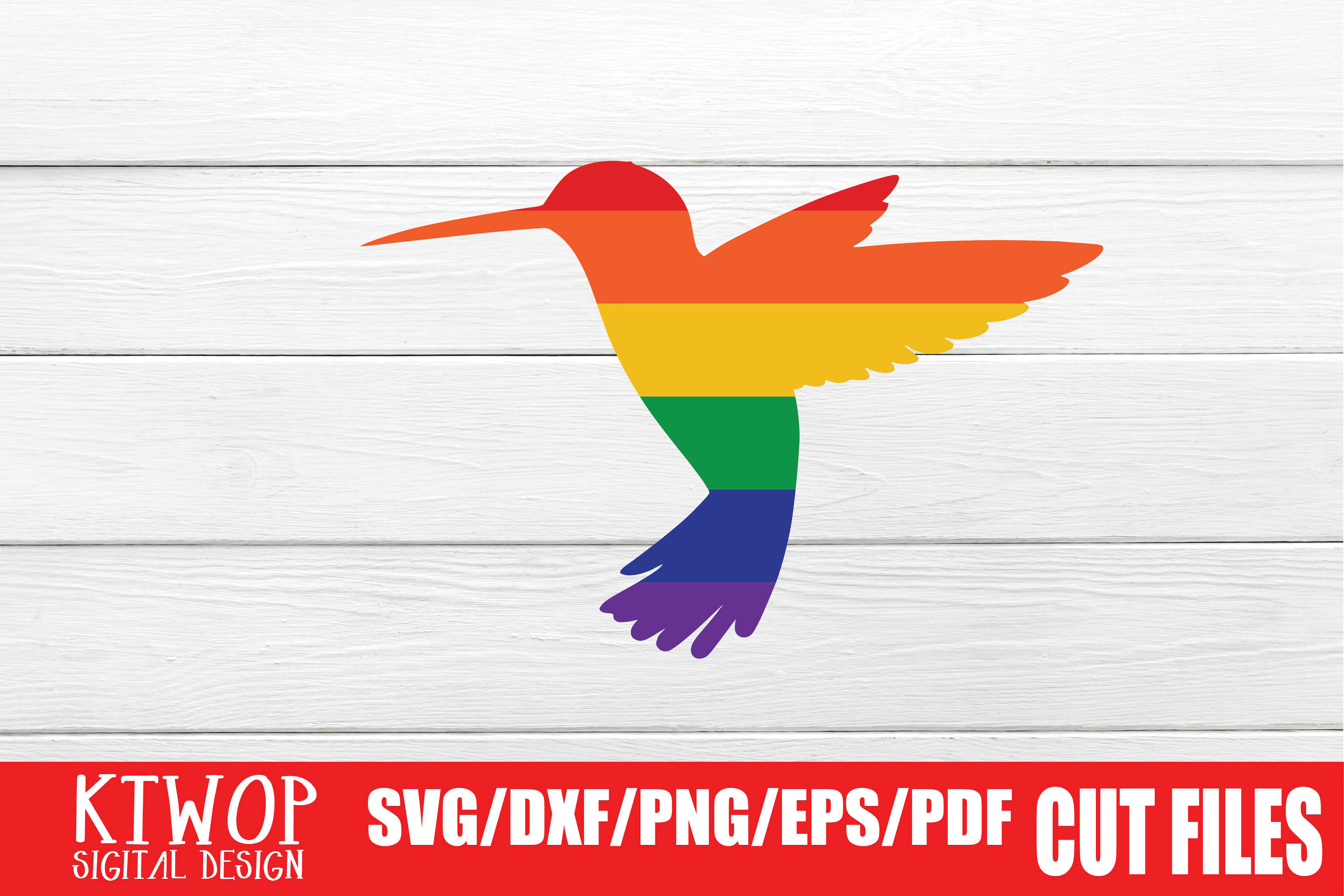 Download Free Lgbt Cut Files Gay Pride Bird Graphic By Ktwop Creative Fabrica for Cricut Explore, Silhouette and other cutting machines.
