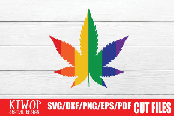 Download Free Lgbt Cut Files Gay Pride Cannabis Graphic By Ktwop Creative for Cricut Explore, Silhouette and other cutting machines.