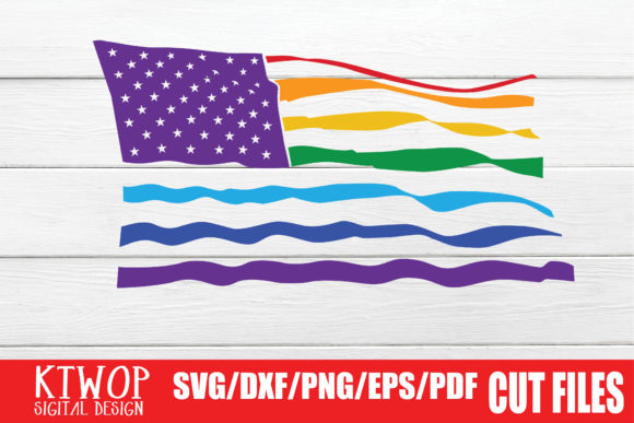 Download Free Lgbt Cut Files Gay Pride Flag Graphic By Ktwop Creative Fabrica for Cricut Explore, Silhouette and other cutting machines.