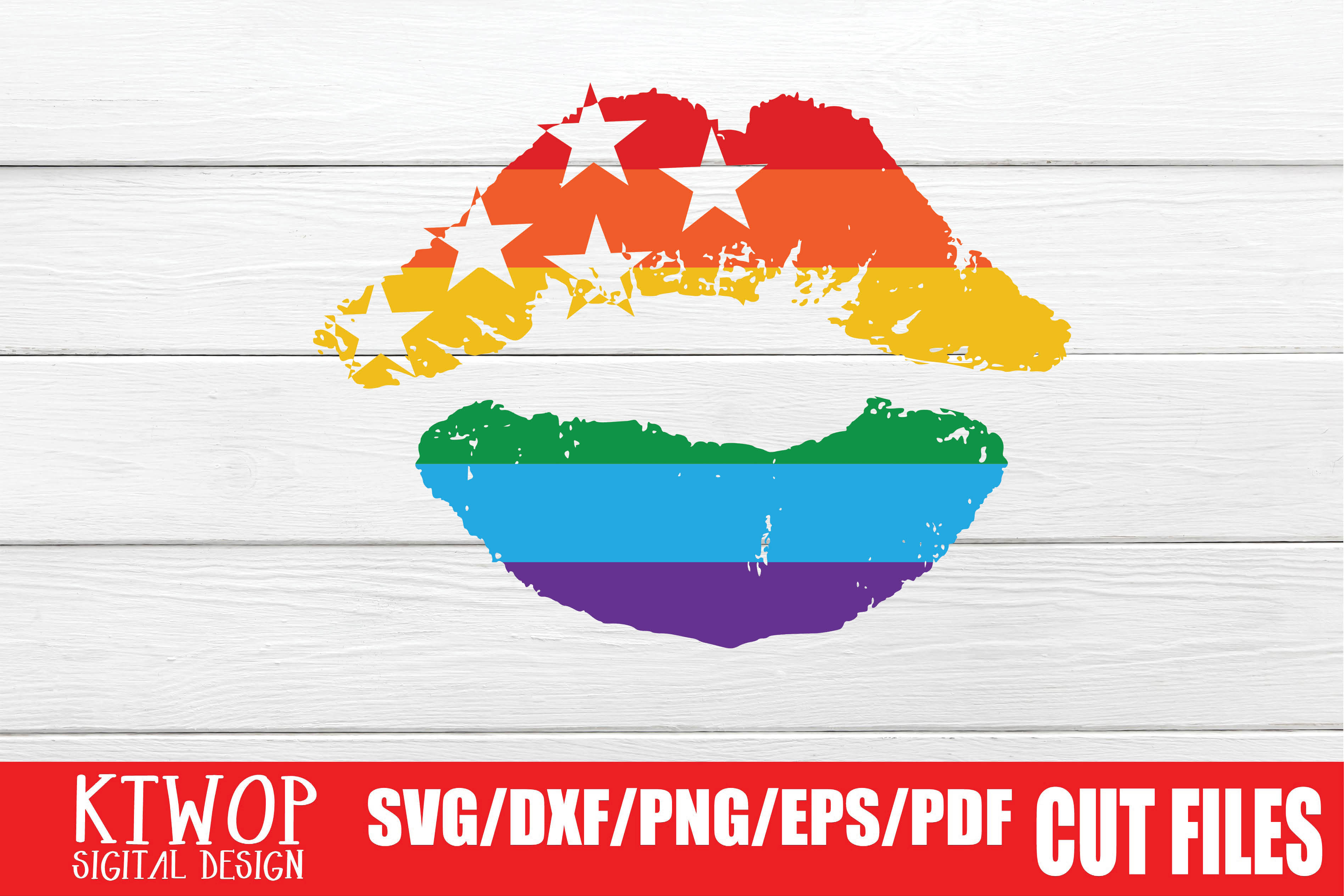 Download Free Lgbt Cut Files Gay Pride Lips Graphic By Ktwop Creative Fabrica for Cricut Explore, Silhouette and other cutting machines.