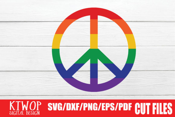Download Free Lgbt Cut Files Gay Pride Peace Graphic By Ktwop Creative Fabrica for Cricut Explore, Silhouette and other cutting machines.