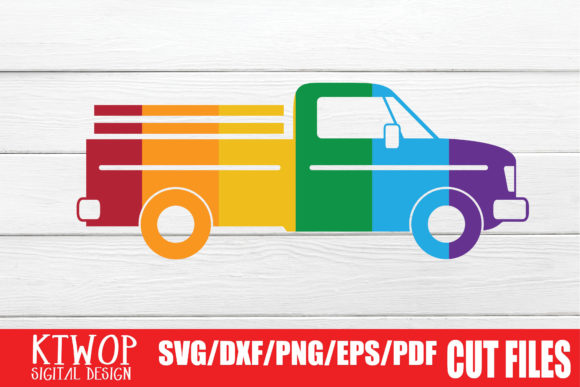 Download Free Lgbt Cut Files Gay Pride Truck Graphic By Ktwop Creative Fabrica for Cricut Explore, Silhouette and other cutting machines.