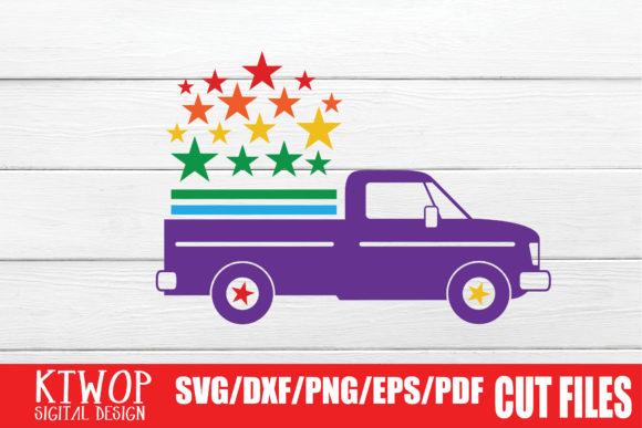Download Free Lgbt Cut Files Gay Pride Truck Graphic By Mr Pagman Creative for Cricut Explore, Silhouette and other cutting machines.