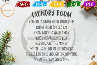 Download Free Laundry Room You Gotta Know When To Hold Graphic By Uramina for Cricut Explore, Silhouette and other cutting machines.