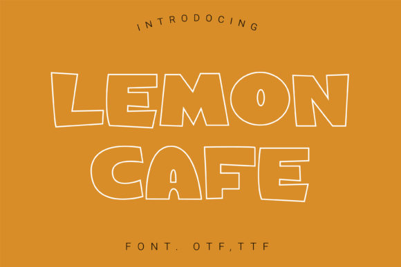 Print on Demand: Lemon Cafe Display Schriftarten von artdee2554