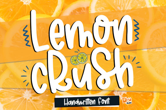 Print on Demand: Lemon Crush Script & Handwritten Font By dmletter31