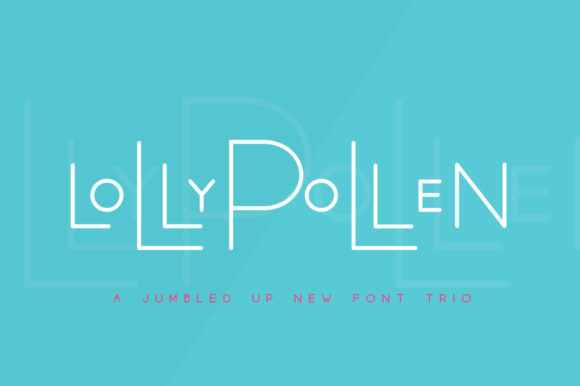 Print on Demand: Lollypollen Trio Display Fuente Por Salt & Pepper Designs