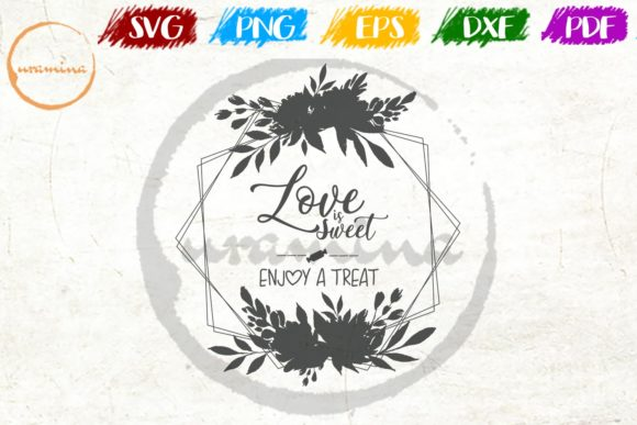 Download Free Love Is Sweet Grafik Von Uramina Creative Fabrica for Cricut Explore, Silhouette and other cutting machines.