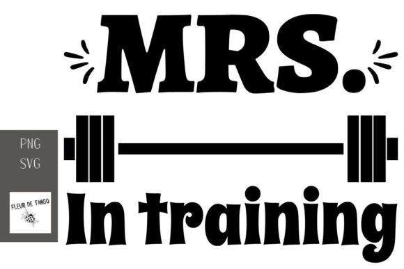 Download Free Mrs In Training Graphic By Fleur De Tango Creative Fabrica for Cricut Explore, Silhouette and other cutting machines.