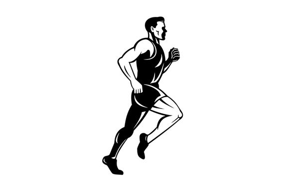 Download Free Marathon Runner Running Side Graphic By Patrimonio Creative for Cricut Explore, Silhouette and other cutting machines.