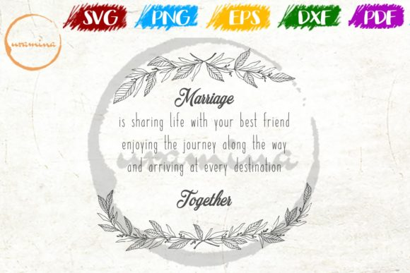 Download Free Marriage Is Sharing Life With Your Best Graphic By Uramina SVG Cut Files