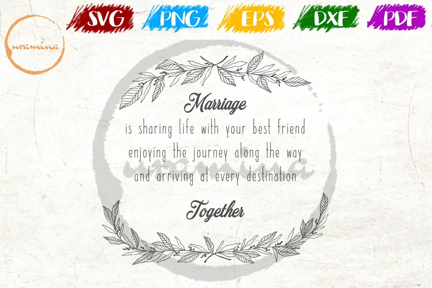 Download Free Marriage Is Sharing Life With Your Best Graphic By Uramina for Cricut Explore, Silhouette and other cutting machines.