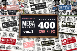Print on Demand: Mega Bundle 400 Designs Vol 1 Graphic Crafts By BlackCatsMedia