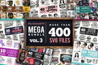 Print on Demand: Mega Bundle 400 Designs Vol 3 Gráfico Crafts Por BlackCatsMedia