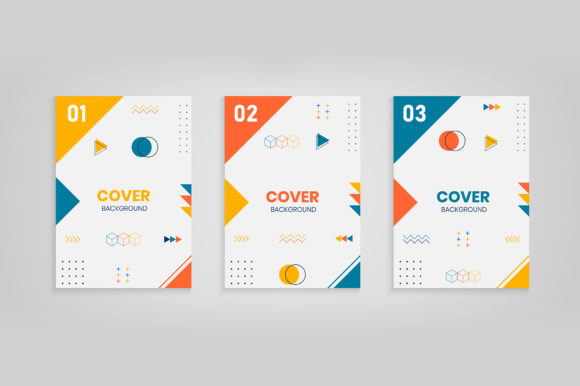 Memphis Style Cover Template Collection Graphic Backgrounds By medelwardi