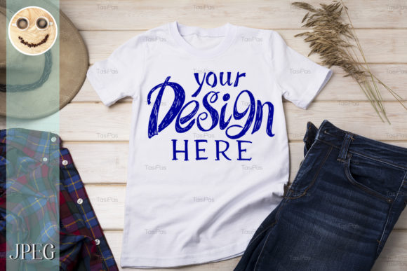 Download Free Men S T Shirt Mockup With Cowboy Hat Graphic By Tasipas for Cricut Explore, Silhouette and other cutting machines.
