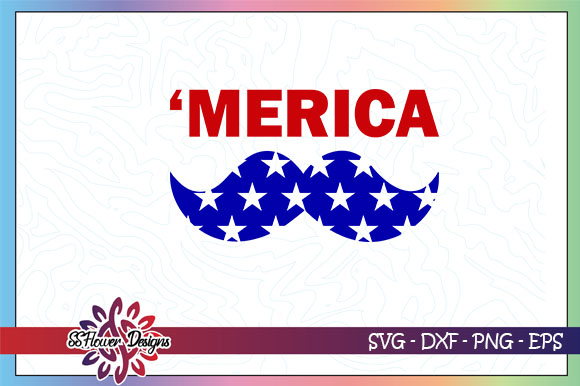 Download Free Merica Bearded American Flag Graphic By Ssflower Creative Fabrica for Cricut Explore, Silhouette and other cutting machines.
