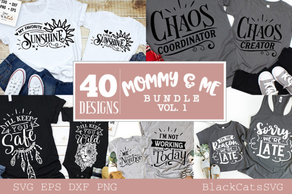 Mommy and Me Bundle 40 Designs Vol 1 Graphic Download